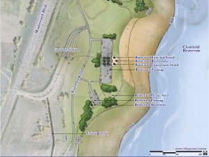 Map of Swim Beach area