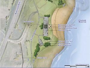Map of Swim Beach area