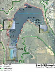 Map of Chatfield Reservoir